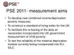 pse 2011 measurement aims