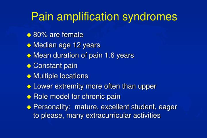 Pain amplification syndromes