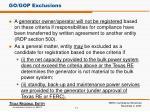 go gop exclusions