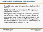 nerc entity registration appeal process