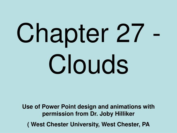 chapter 27 clouds