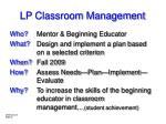 lp classroom management