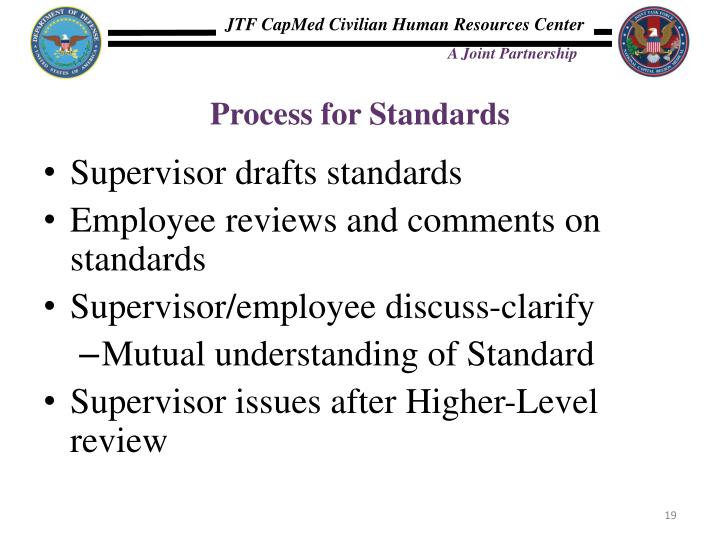 Process for Standards