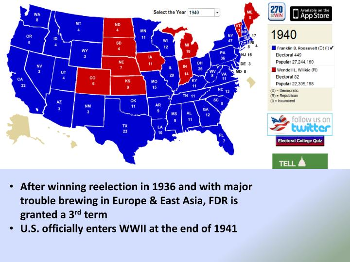 After winning reelection in 1936 and with major trouble brewing in Europe & East Asia, FDR is granted a 3