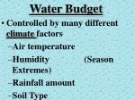 water budget1