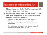 importance of understanding jsa