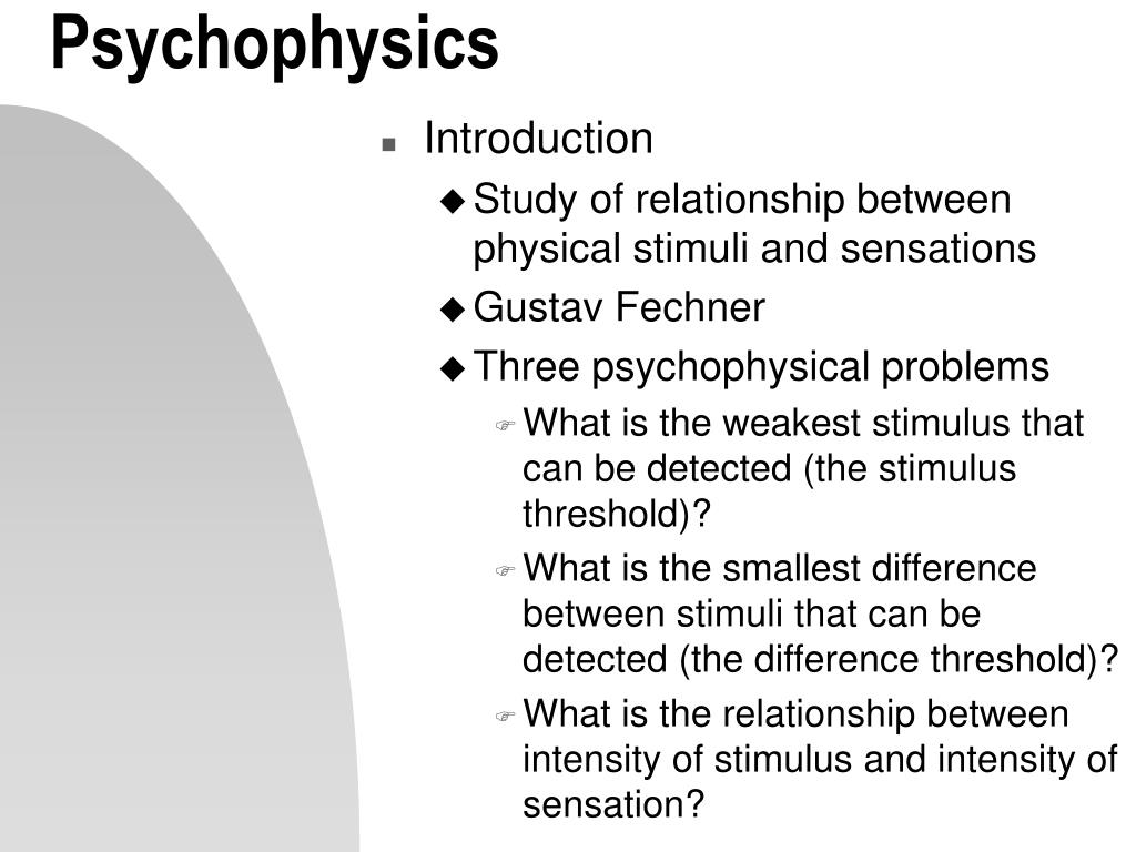 : Signal Detection Theory and Psychophysics