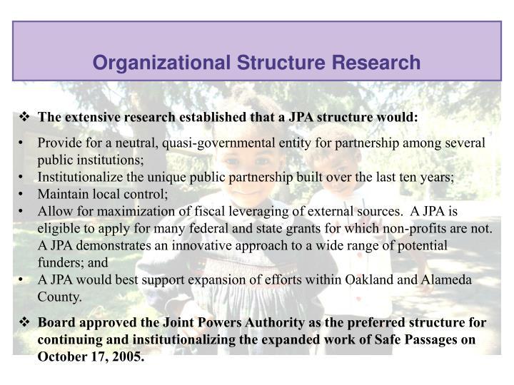 Organizational Structure Research