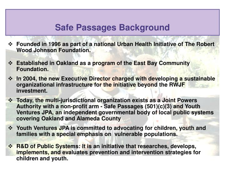 Safe passages background