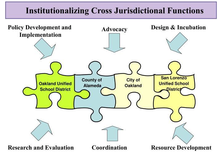 Institutionalizing Cross Jurisdictional Functions