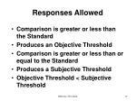 responses allowed