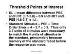 threshold points of interest1