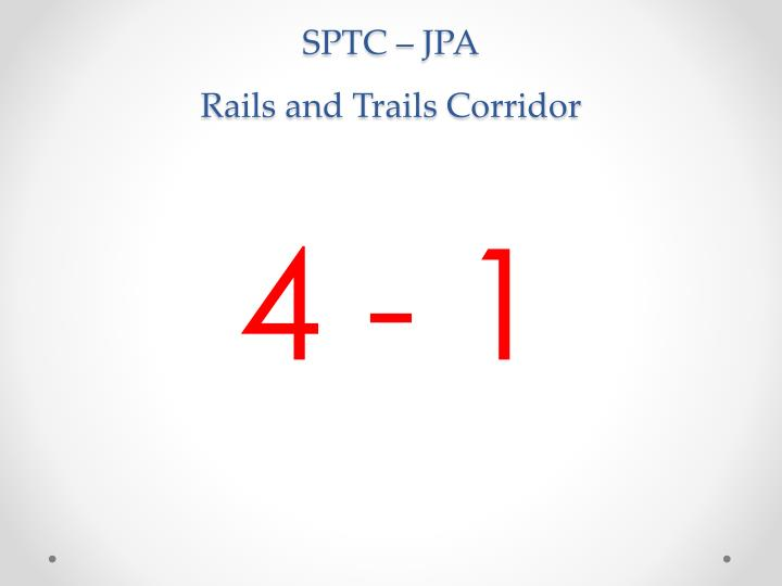 Sptc jpa rails and trails corridor