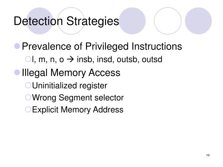 Detection Strategies