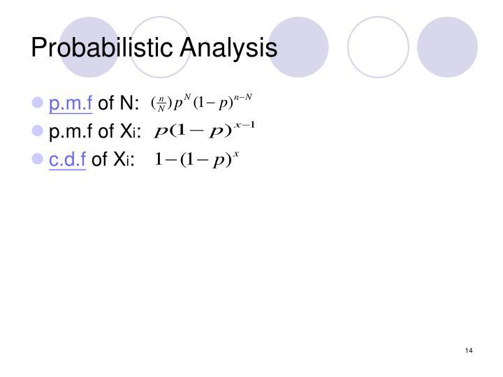 Probabilistic Analysis