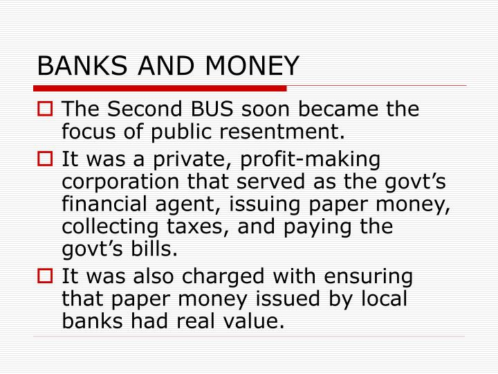BANKS AND MONEY
