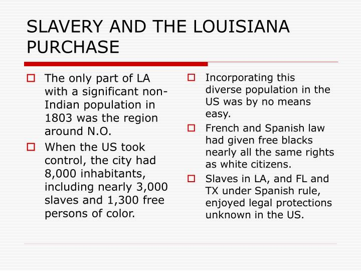 SLAVERY AND THE LOUISIANA PURCHASE