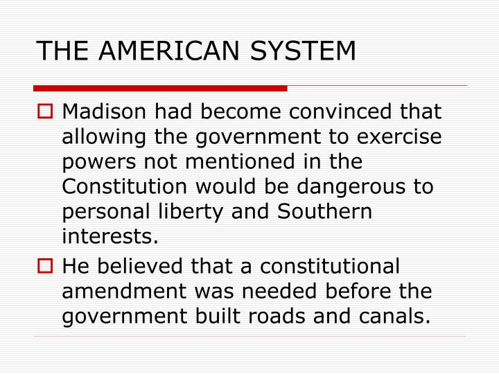 THE AMERICAN SYSTEM