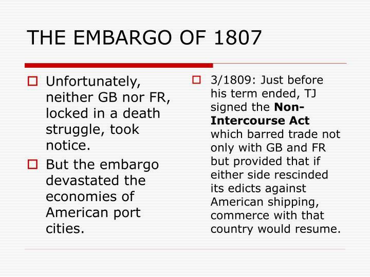 THE EMBARGO OF 1807