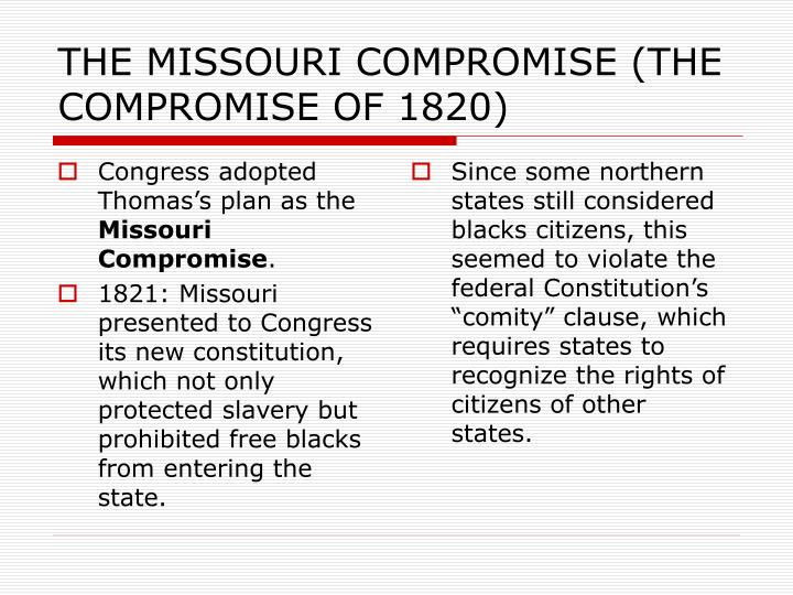 Congress adopted Thomas's plan as the
