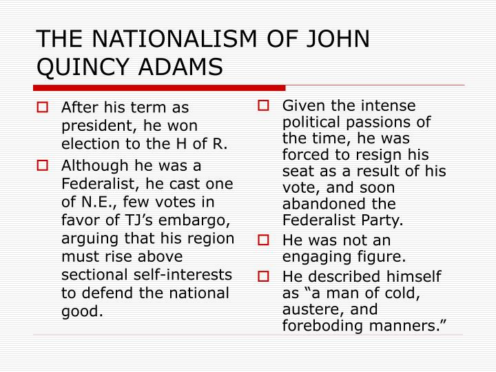 After his term as president, he won election to the H of R.