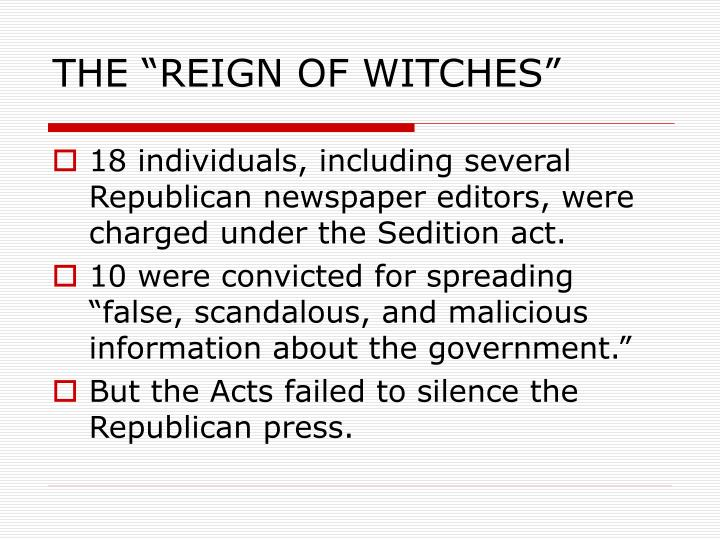 """THE """"REIGN OF WITCHES"""""""