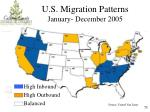 u s migration patterns january december 2005