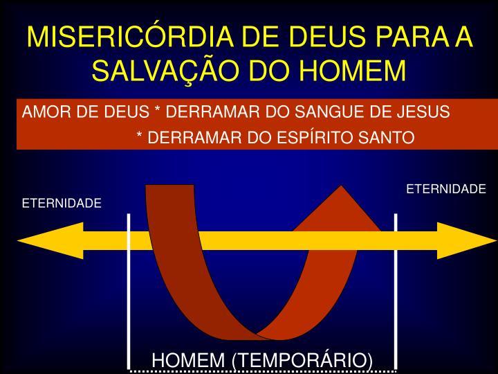 MISERICÓRDIA DE DEUS PARA A SALVAÇÃO DO HOMEM