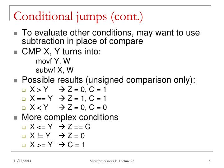 Conditional jumps (cont.)