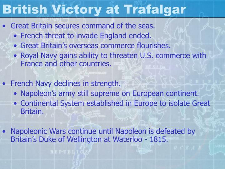 British Victory at Trafalgar