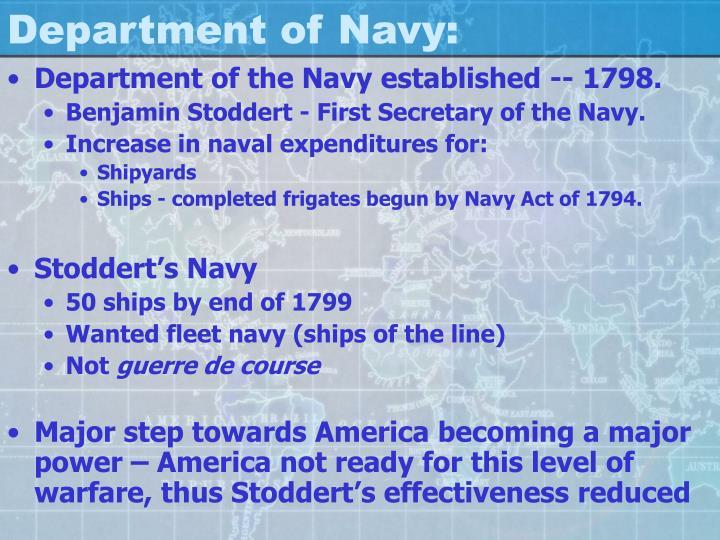 Department of Navy: