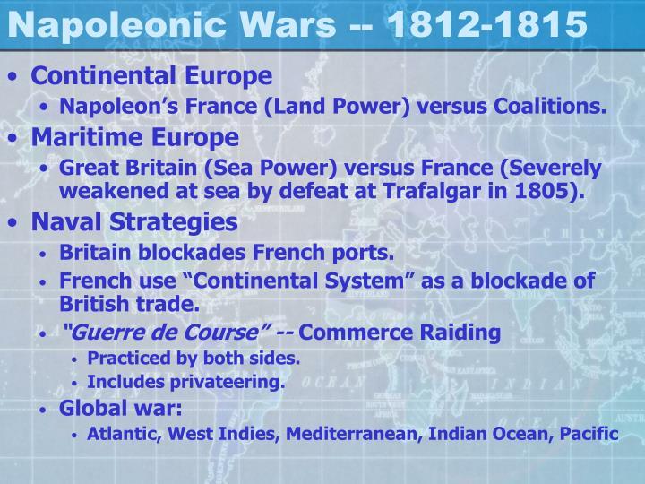 Napoleonic Wars -- 1812-1815