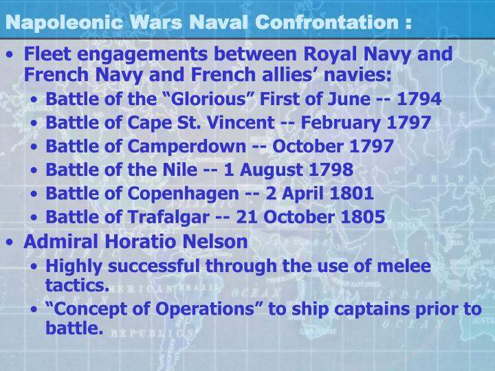 Napoleonic Wars Naval Confrontation :