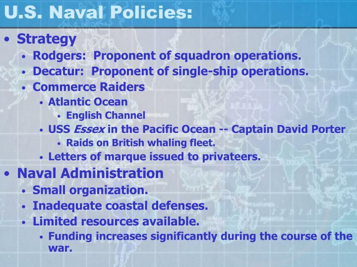 U.S. Naval Policies: