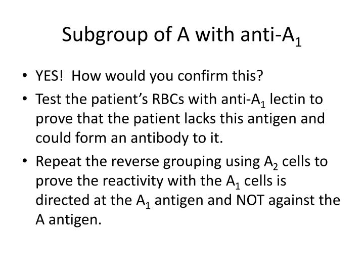 Subgroup of A with anti-A
