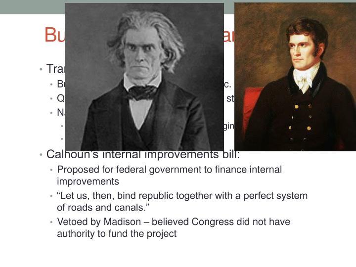 Building a national market cont