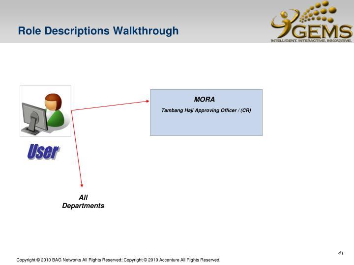 Role Descriptions Walkthrough