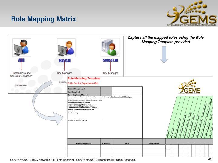 Role Mapping Matrix