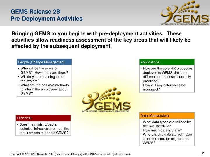 GEMS Release 2B