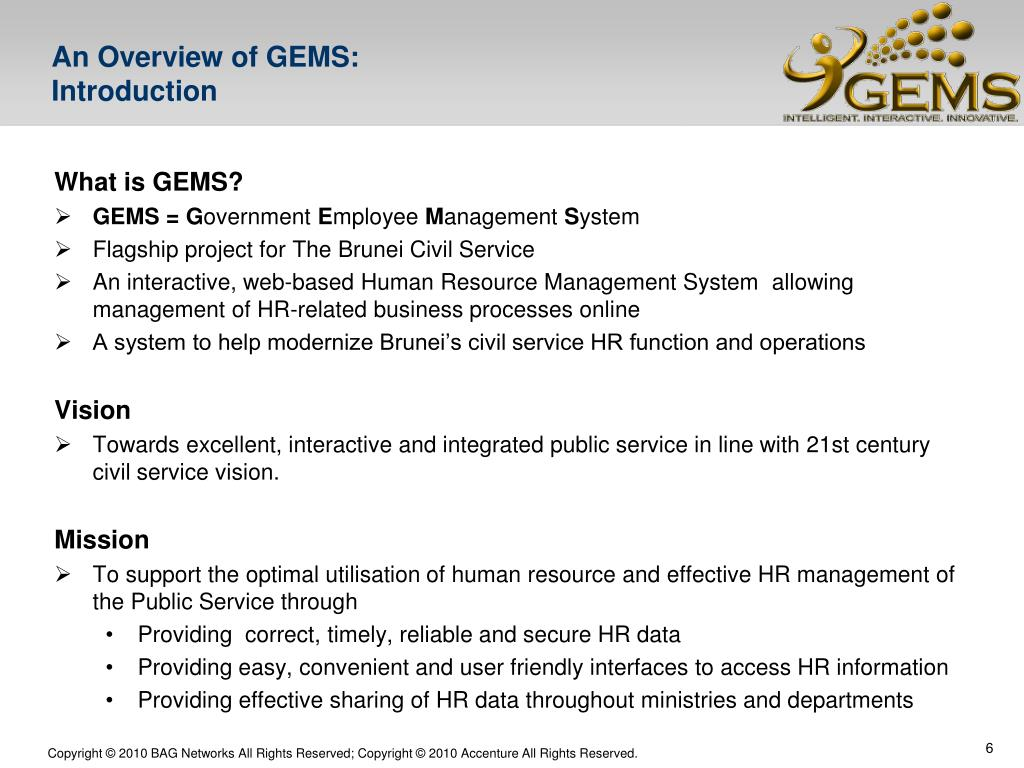 PPT - GEMS – Government Employee Management System Pre