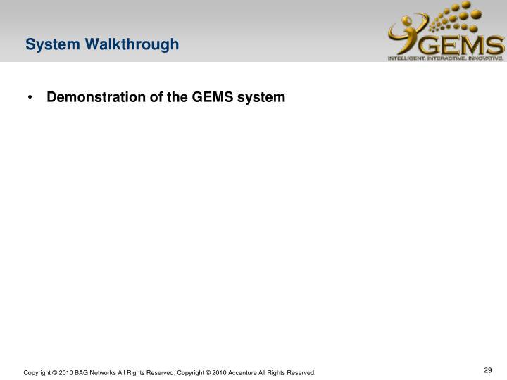 System Walkthrough