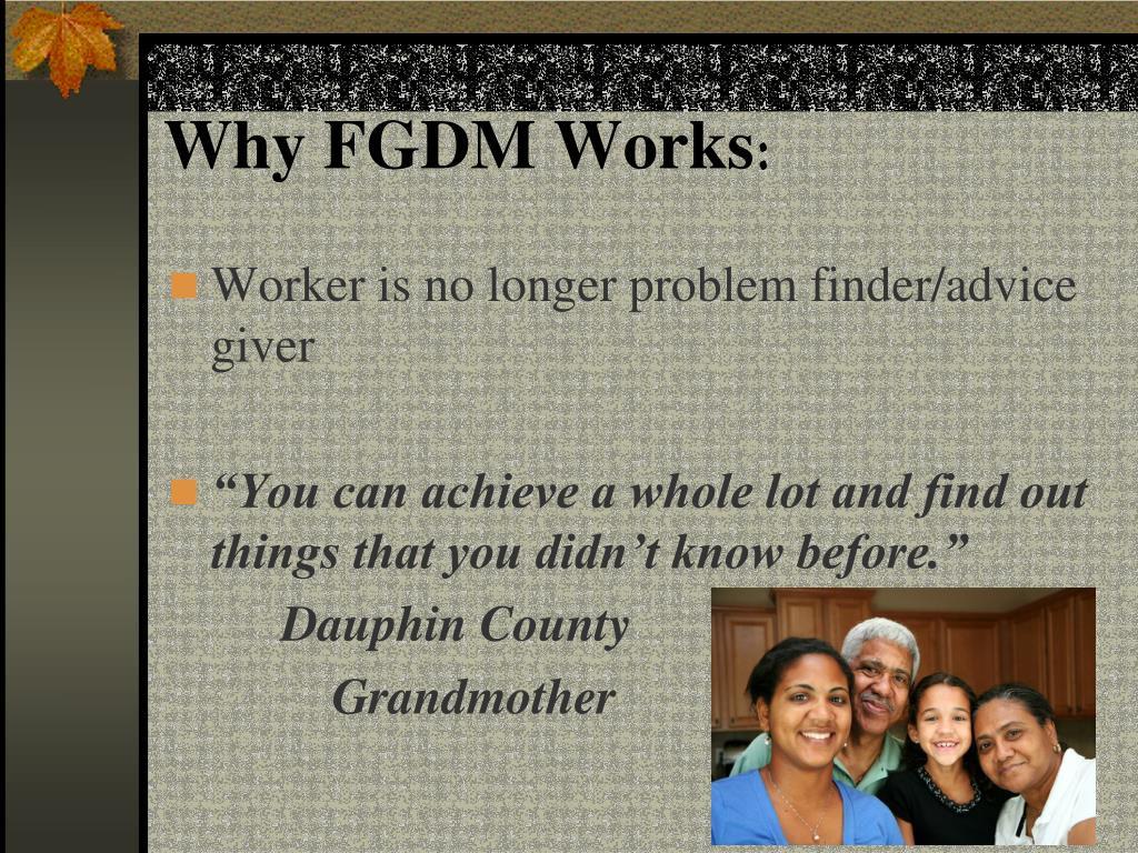 PPT - Family Group Decision Making in Blair County