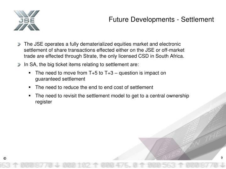 Future Developments -
