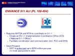enhance 911 act pl 108 494