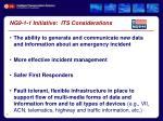 ng9 1 1 initiative its considerations