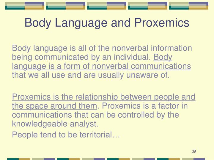 Body Language and Proxemics