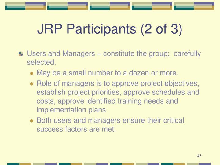 JRP Participants (2 of 3)
