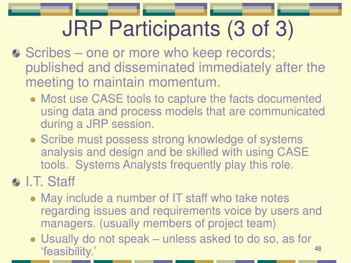 JRP Participants (3 of 3)