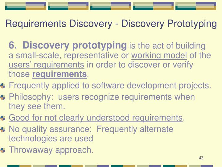 Requirements Discovery - Discovery Prototyping