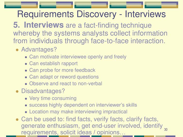 Requirements Discovery - Interviews